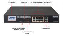 PoE šakotuvas 10-portų 1000Mbps GSD-1002VHP